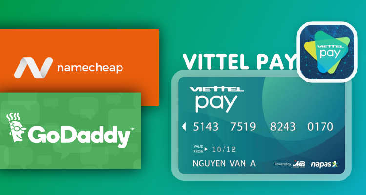Vittel pay mua tên miền Namecheap, GoDaddy với MasterCard ảo caodem.com
