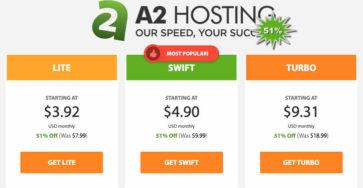 A2hosting giảm 51% cho tất cả các gói hosting caodem.com