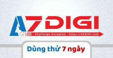 Azdigi cho phép dùng thử hosting 1 tuần trước khi mua caodem.com
