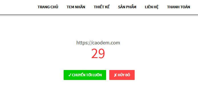 Code tạo trang chuyển hướng link trong Wordpress caodem.com