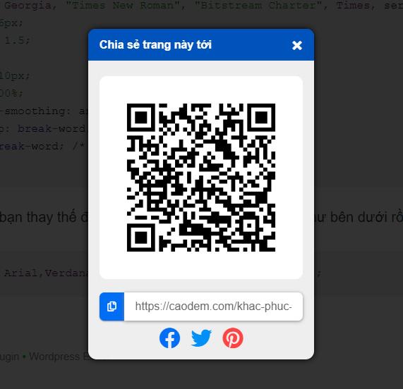 Tạo mã QR cho liên kết bài viết của website