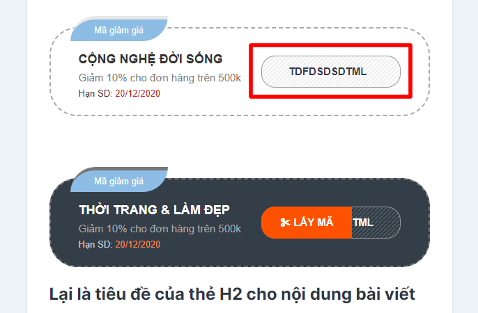 Plugin shortcode mã giảm giá cực đẹp và hoàn toàn miễn phí