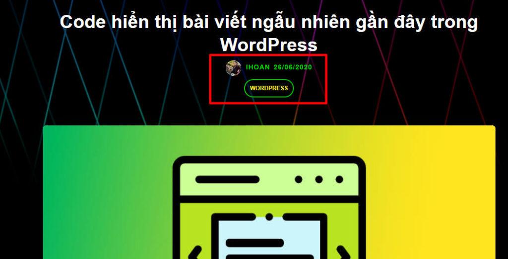Hiển thị ngày cập nhật cuối cùng cho bài viết trong WordPress