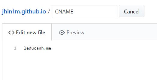 Sử dụng tên miền tuỳ chỉnh cho blog Jekyll